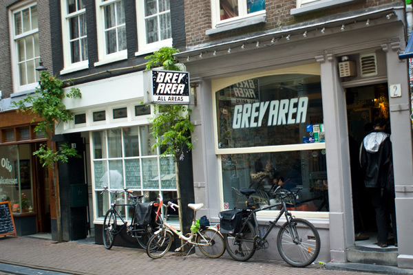 Grey Area Coffeeshop in Amsterdam